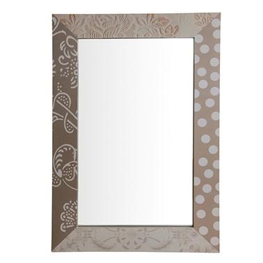 Vitale Vitale 60 cm Ahşap Duvar Aynası Renkli